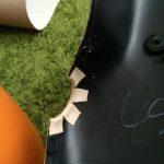 ローバーミニ:内装のレザー張りをDIYでがんばる。ステアリングカバー編