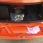 ローバーミニ:トランクやエンジンルームもメンテナンス。