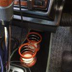 ローバーミニ:ドリンクホルダー付けなきゃイカンじゃないですか。