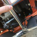 ローバーミニ:フロントサスペンションをスプリングに交換する。~アッパーアームナットの固着編~