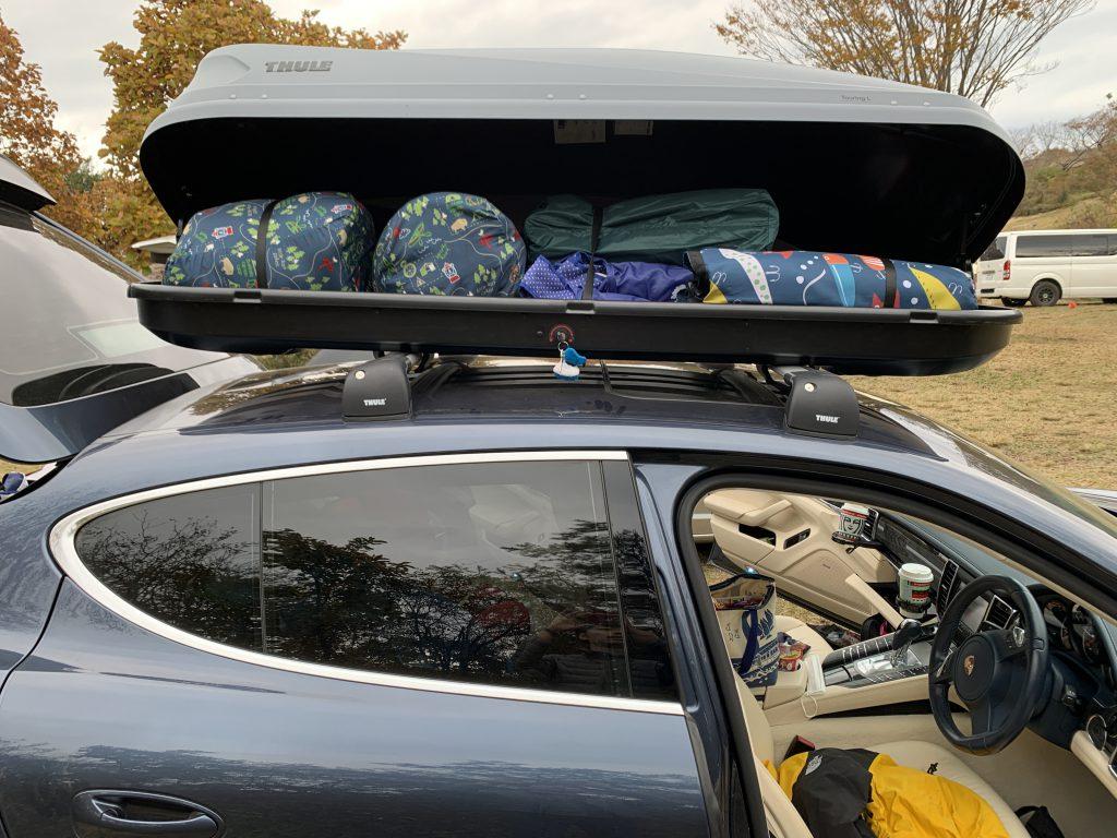 パナメーラ:ルーフキャリアとボックスを装備してキャンプに備える!安心のTHULE製にしてみた!