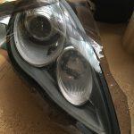 パナメーラ:ヘッドライトをスモーク化してみる。~塗装とラッピング編~