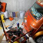 ローバーミニ:ガレージを手に入れてまず最初にやること。それは磨きとガラスコーティングのやり直し。~最後のリヤ磨き編~