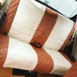ローバーミニ:DIYで内装高級化!家庭用ミシンでレザーシートカバーを作る。~技術開発編~