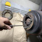 ローバーミニ:ブレーキフルード交換のついでにリヤドラムブレーキの点検。