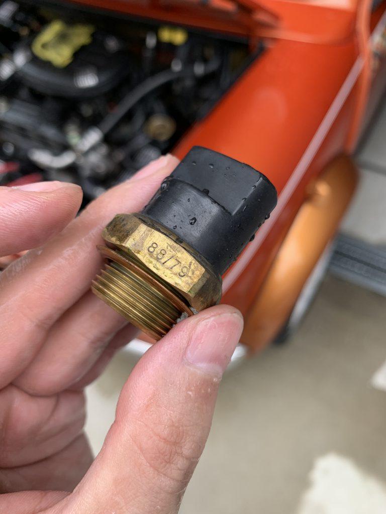 ローバーミニのファンサーモスイッチ