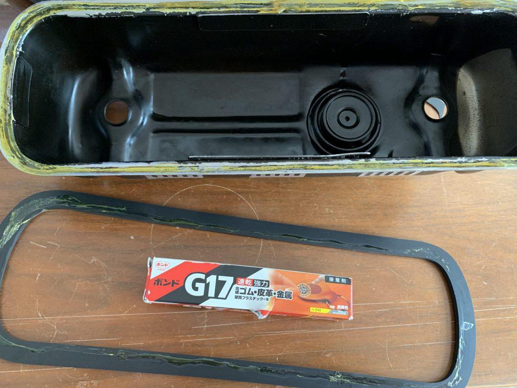 ローバーミニのロッカーカバーガスケット交換